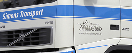 Simons Transport Truck with Logo